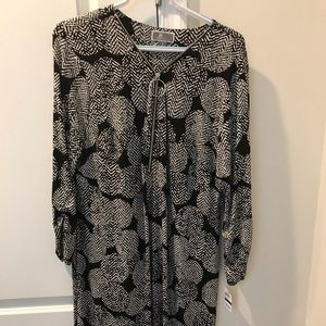 Nwt jm collection black & white dress XL